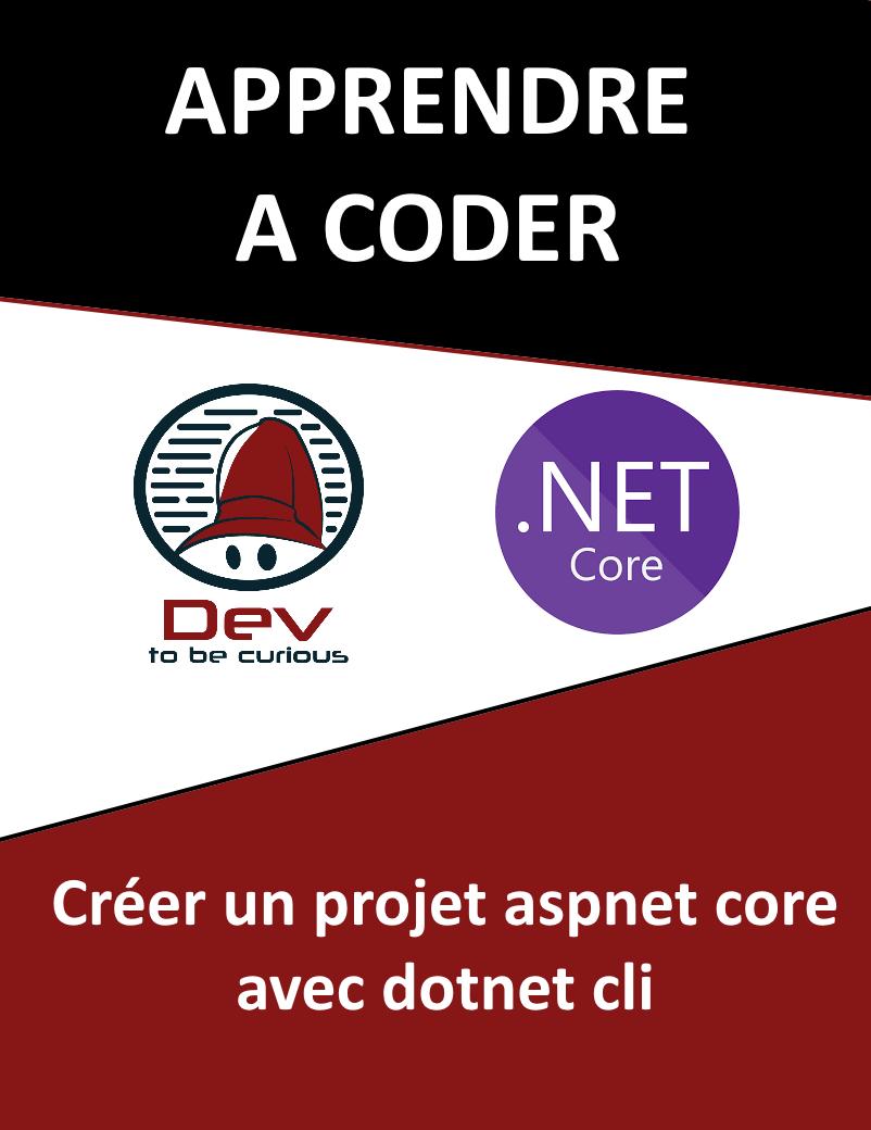 créer projet aspnet core dotnet cli