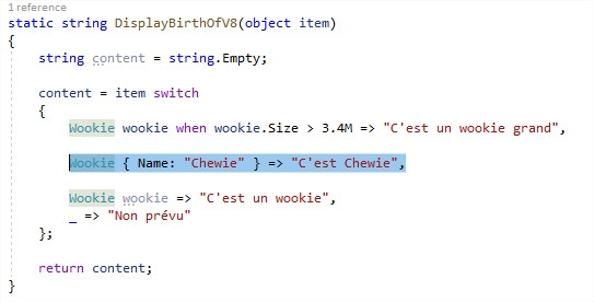 switch expression dotnet core csharp 8