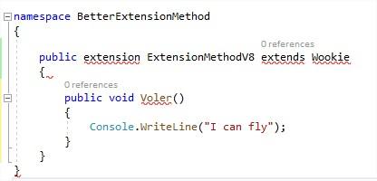 extension de méthod améliorée c# 8 dotnet core